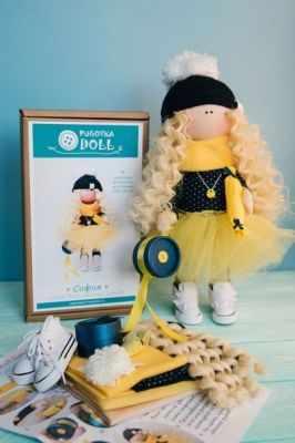 Набор для изготовления игрушки Pugovka Doll Набор София, 35 см