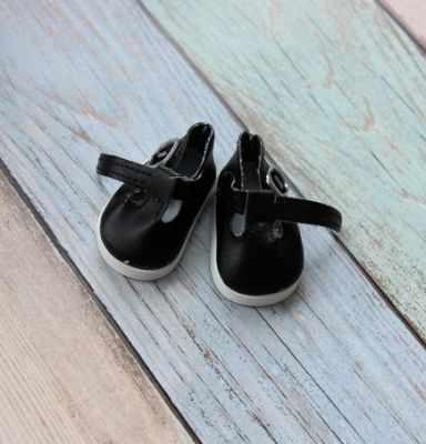 Заготовки и материалы для изготовления игрушки Pugovka Doll Туфли черные, 5 см