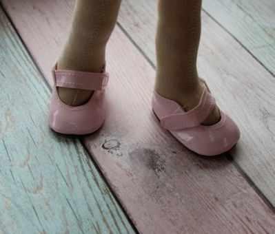 Заготовки и материалы для изготовления игрушки Pugovka Doll Туфли розовые, 6,5 см
