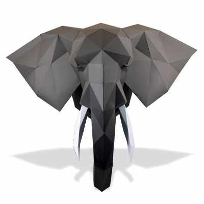 """Трофейная голова """"Слон Володя"""", набор для творчества"""