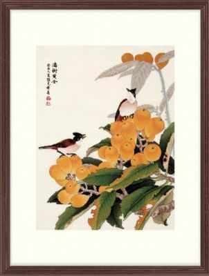 2800149 Птицы на золотистой локве  набор (Xiu Crafts) - Наборы для вышивания «Xiu Crafts»
