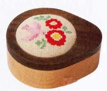 1040316 Шкатулка  Розовая птичка   набор (Xiu Crafts) - Наборы для вышивания «Xiu Crafts»