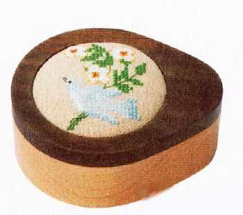 1040317 Шкатулка  Голубая птичка   набор (Xiu Crafts) - Наборы для вышивания «Xiu Crafts»