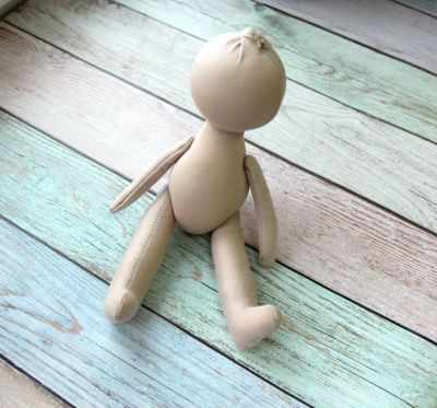 Заготовки и материалы для изготовления игрушки Pugovka Doll Т117 Заготовка куклы, 22 см