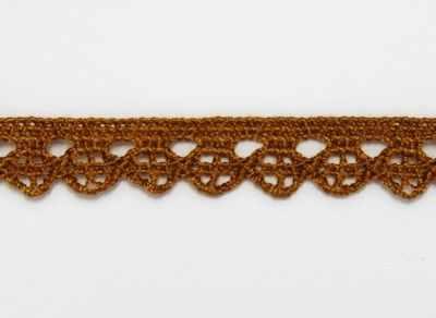 Заготовки и материалы для изготовления игрушки - 26196 Тесьма А6420 хлопок 1см вязаная,2м, цв. коричневый