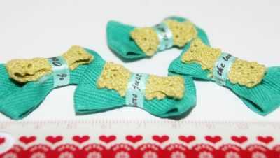 Заготовки и материалы для изготовления игрушки - 20886 Бантики пришивные Б-0221
