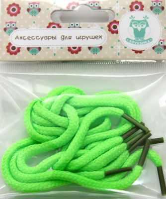 Фото - Заготовки и материалы для изготовления игрушки - 25387 Шнурки обувные для игрушек, 2,5мм*30см, 2 пары, зел. полесье набор игрушек для песочницы 468 цвет в ассортименте