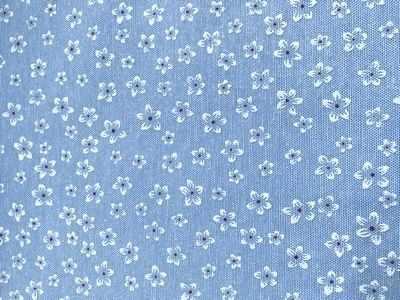 Заготовки и материалы для изготовления игрушки - 25901 Ткань FD Цветочки-2, 48*50см (80% п/э, 20% х/б), цв.гол.