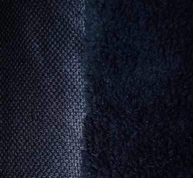 """24189 Мех """"ТЕДДИ"""" М-3022 (50 см*56 см), 100% полиэстер, цв. черный"""