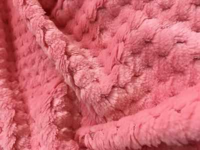 Мех для игрушек и рукоделия - 25745 Фактурный-СОТЫ (50 см*50 см), цв. розовый