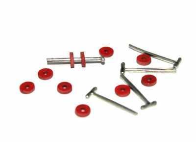 Набор для изготовления игрушки - 23530 Набор креплений фибра №6 для игрушек, 10 дисков (6 мм), 5 Т-образных шплинтов (1,6 см)