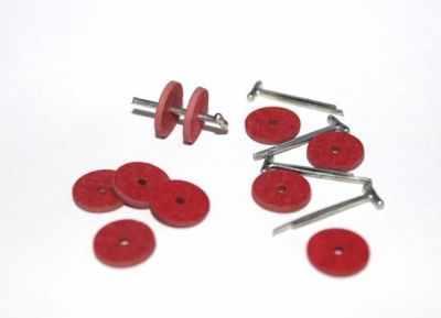 Набор для изготовления игрушки - 23532 Набор креплений фибра №12 для игрушек, 10 дисков (9 мм), 5 Т-образных шплинтов (1,6 см)
