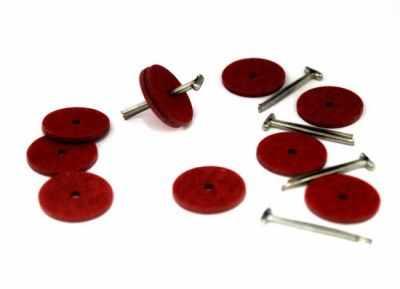 Набор для изготовления игрушки - 23534 Набор креплений фибра №18 для игрушек, 10 дисков (18 мм), 5 Т-образных шплинтов (2,0 см)