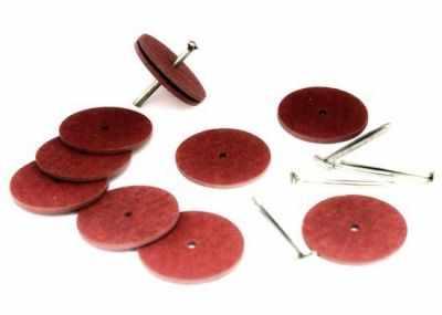 Набор для изготовления игрушки - 23536 Набор креплений фибра №25 для игрушек, 10 дисков (25 мм), 5 Т-образных шплинтов (2,0 см)