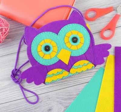 Набор для изготовления изделий из фетра Школа талантов 2834905 Сумочка детская из фетра своими руками