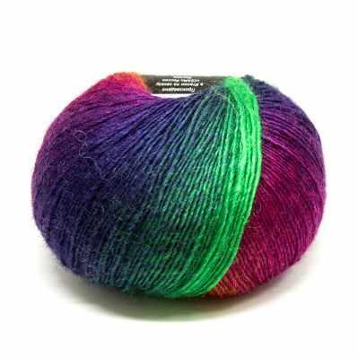 Пряжа Seam Пряжа Seam Rainbow Цвет.14 Рыже-лилово-изумрудный пряжа seam пряжа seam rainbow цвет 18 сер беж роз