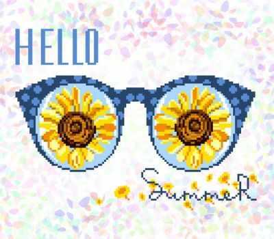 Флизелин с рисунком Confetti K329 Привет, лето!