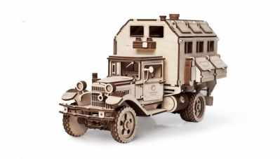 01-00 Конструктор 3D деревянный Lemmo ГАЗ-АА Кунг