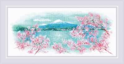 1744  Сакура. Фудзи  - Наборы для вышивания «Риолис»
