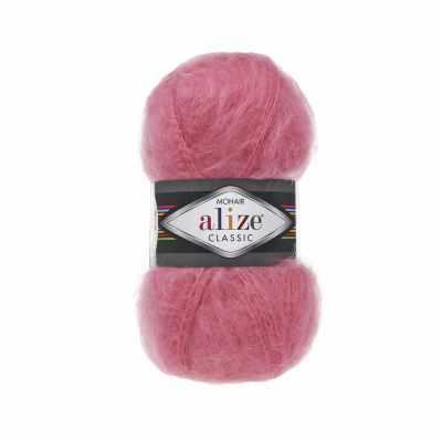Пряжа Alize Пряжа Alize Mohair Classic New Цвет.170 Темно-розовый