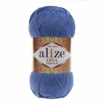 Пряжа Alize Пряжа Alize DIVA STRETCH Цвет.132 Св. василек