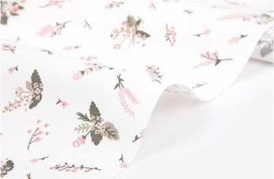 280 Розовые цветы на белом (45*80 см)