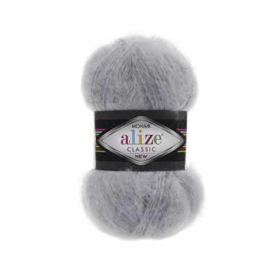 Пряжа Alize Пряжа Alize Mohair Classic New Цвет.21 Серый