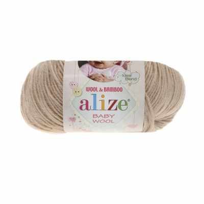 Пряжа Alize Пряжа Alize Baby Wool Цвет.310 Светло бежевый