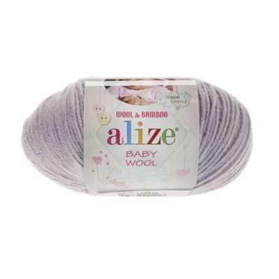 Пряжа Alize Пряжа Alize Baby Wool Цвет.52 Серый
