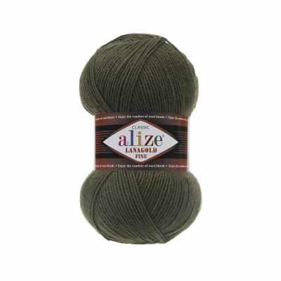 Пряжа Alize Пряжа Alize Lanagold Fine Цвет.29 Темно зеленый