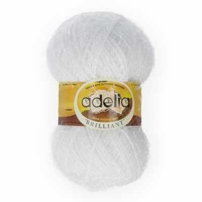 Пряжа Adelia Пряжа Adelia Brilliant 01 белый
