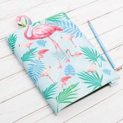 2966719 Обложка для книги с закладкой Фламинго