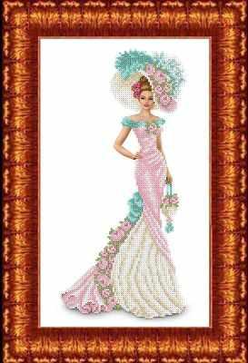 КБЛН(ч) 3016 Дама с сумочкой  набор (Каролинка) - Наборы для вышивания «Каролинка»