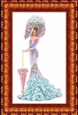 Набор для вышивания Каролинка КБЛН(ч) 3012 Леди - набор