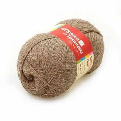 Пряжа Троицкая Шотландский твид Цвет.2454 Натуральный темный