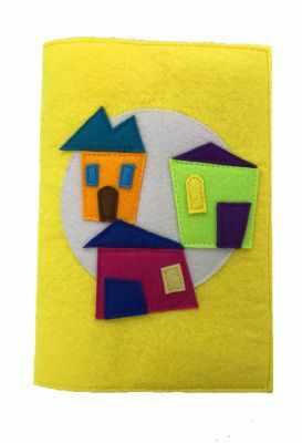 Набор для детского творчества Santa Lucia 3046 Обложка на книгу «Дома»