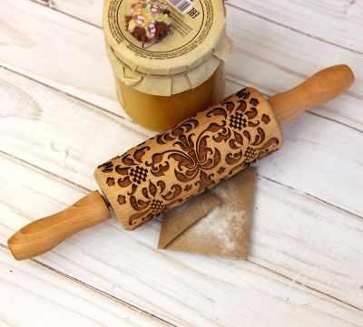 Детская узорная скалочка  Дамаск  - Инструменты для выпечки