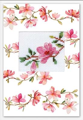"""(S)P-84 Набор для изготовления открытки """"Розовая магнолия"""""""