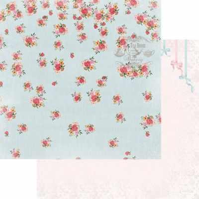FD1006709 Лист бумаги для скрапбукинга Дуновение ветра, коллекция Зефир