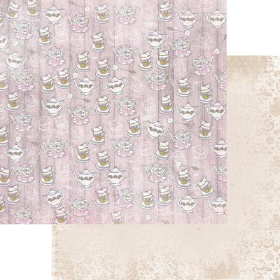 FD1006704 Лист бумаги для скрапбукинга Посиделки с близкими, коллекция Зефир
