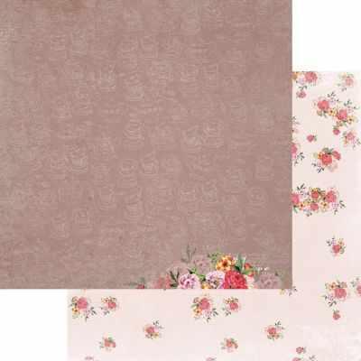 FD1006710 Лист бумаги для скрапбукинга Цветочный аромат, коллекция Зефир