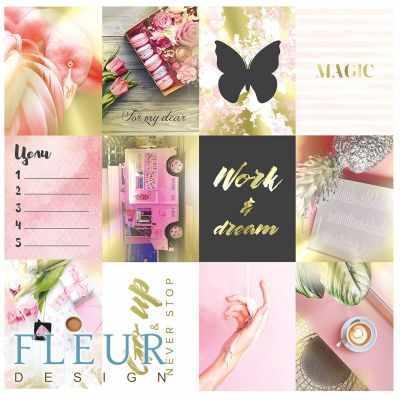 FD1116801 Набор карточек Pretty pink