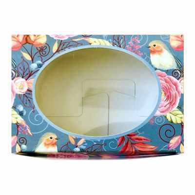 903050 Декоративная упаковка Птицы (коробочка с окошком)