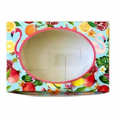 903041 Декоративная упаковка Тропики (коробочка с окошком)