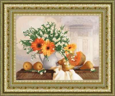 Набор для вышивания Золотое Руно СЖ-029 Оранжевый натюрморт. Стиль жизни