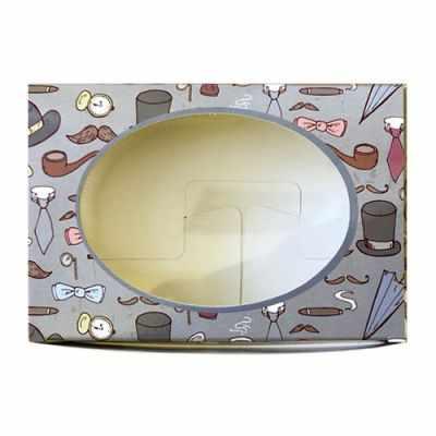 903047 Декоративная упаковка Шляпы и сигары (коробочка с окошком)