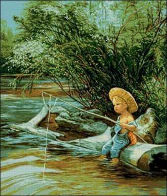 Набор для вышивания Goblenset 0788Micul pescar