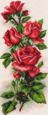 Набор для вышивания Матрёнин Посад 1074/Н Алые розы - набор для вышивания канва с нанесенным рисунком матренин посад малинка для вышивания крестом 16 х 20 см