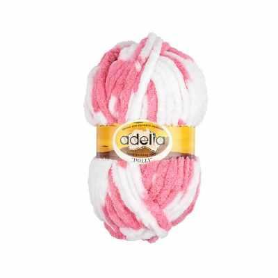 Пряжа Adelia Dolly 16 бело-розовый
