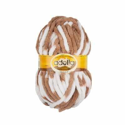 Пряжа Adelia Dolly 17 бело-бежевый